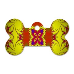 Digital Color Ornament Dog Tag Bone (one Side)