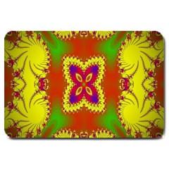Digital Color Ornament Large Doormat