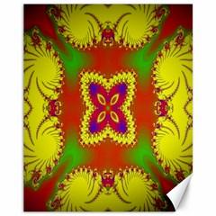 Digital Color Ornament Canvas 11  X 14