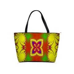 Digital Color Ornament Shoulder Handbags