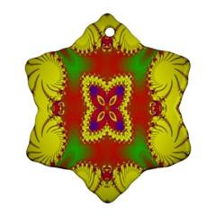 Digital Color Ornament Ornament (Snowflake)