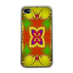 Digital Color Ornament Apple iPhone 4 Case (Clear)