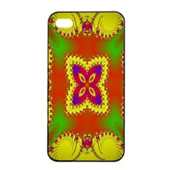 Digital Color Ornament Apple Iphone 4/4s Seamless Case (black)