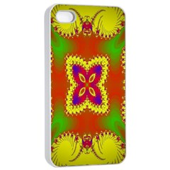 Digital Color Ornament Apple Iphone 4/4s Seamless Case (white)
