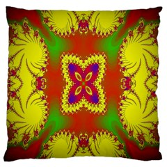 Digital Color Ornament Large Cushion Case (Two Sides)