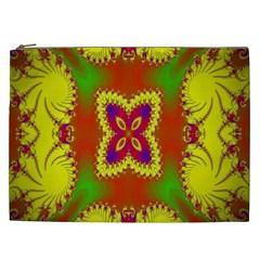 Digital Color Ornament Cosmetic Bag (xxl)