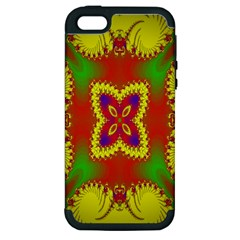 Digital Color Ornament Apple Iphone 5 Hardshell Case (pc+silicone)