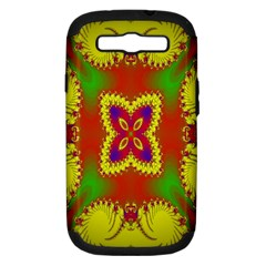 Digital Color Ornament Samsung Galaxy S III Hardshell Case (PC+Silicone)