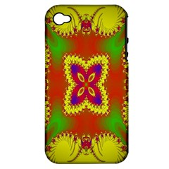Digital Color Ornament Apple iPhone 4/4S Hardshell Case (PC+Silicone)