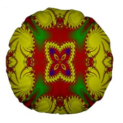 Digital Color Ornament Large 18  Premium Round Cushions