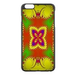 Digital Color Ornament Apple Iphone 6 Plus/6s Plus Black Enamel Case