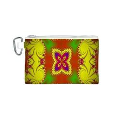 Digital Color Ornament Canvas Cosmetic Bag (s)