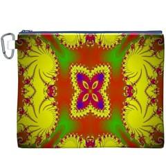 Digital Color Ornament Canvas Cosmetic Bag (XXXL)