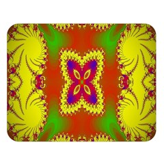 Digital Color Ornament Double Sided Flano Blanket (large)