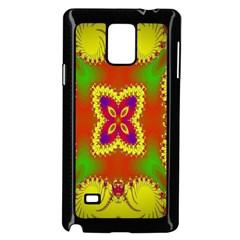 Digital Color Ornament Samsung Galaxy Note 4 Case (Black)
