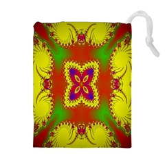 Digital Color Ornament Drawstring Pouches (Extra Large)