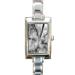 Trees Without Leaves Rectangle Italian Charm Watch