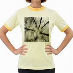 Trees Without Leaves Women s Fitted Ringer T-Shirts