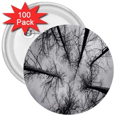 Trees Without Leaves 3  Buttons (100 Pack)