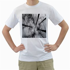 Trees Without Leaves Men s T Shirt (white) (two Sided)