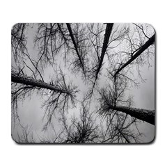 Trees Without Leaves Large Mousepads
