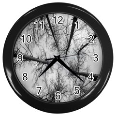 Trees Without Leaves Wall Clocks (Black)