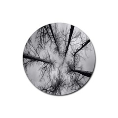 Trees Without Leaves Rubber Round Coaster (4 Pack)