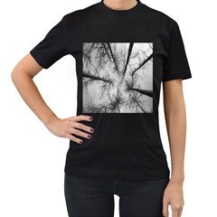 Trees Without Leaves Women s T-Shirt (Black) (Two Sided)