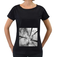 Trees Without Leaves Women s Loose-Fit T-Shirt (Black)