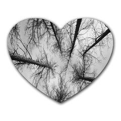 Trees Without Leaves Heart Mousepads