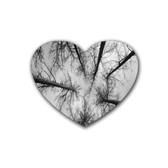 Trees Without Leaves Rubber Coaster (heart)