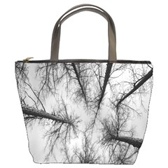 Trees Without Leaves Bucket Bags