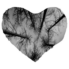 Trees Without Leaves Large 19  Premium Heart Shape Cushions