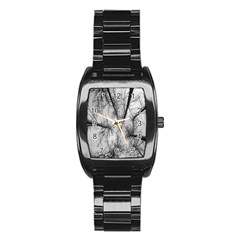 Trees Without Leaves Stainless Steel Barrel Watch