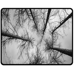 Trees Without Leaves Double Sided Fleece Blanket (medium)