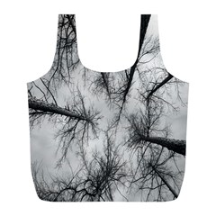 Trees Without Leaves Full Print Recycle Bags (L)