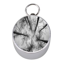 Trees Without Leaves Mini Silver Compasses