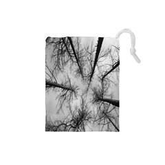 Trees Without Leaves Drawstring Pouches (small)