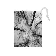 Trees Without Leaves Drawstring Pouches (Medium)