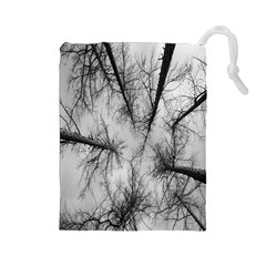 Trees Without Leaves Drawstring Pouches (Large)