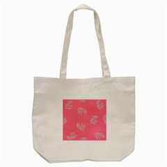 Branch Berries Seamless Red Grey Pink Tote Bag (Cream)