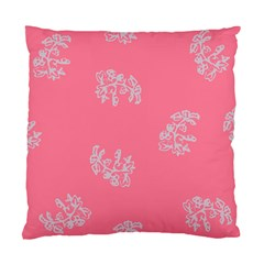 Branch Berries Seamless Red Grey Pink Standard Cushion Case (Two Sides)