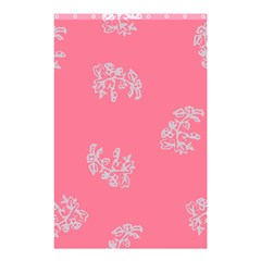 Branch Berries Seamless Red Grey Pink Shower Curtain 48  x 72  (Small)