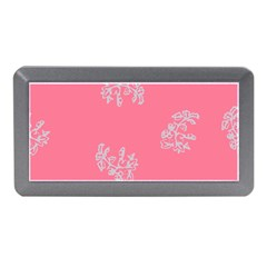 Branch Berries Seamless Red Grey Pink Memory Card Reader (Mini)