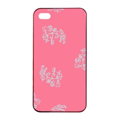 Branch Berries Seamless Red Grey Pink Apple iPhone 4/4s Seamless Case (Black)