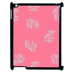 Branch Berries Seamless Red Grey Pink Apple iPad 2 Case (Black)