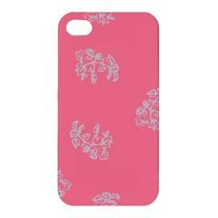 Branch Berries Seamless Red Grey Pink Apple iPhone 4/4S Hardshell Case