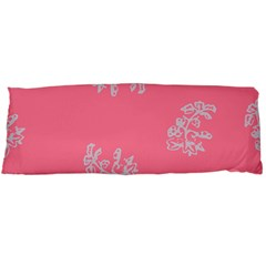Branch Berries Seamless Red Grey Pink Body Pillow Case Dakimakura (Two Sides)