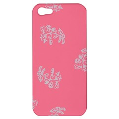Branch Berries Seamless Red Grey Pink Apple iPhone 5 Hardshell Case