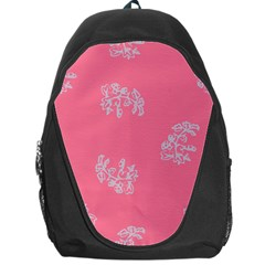 Branch Berries Seamless Red Grey Pink Backpack Bag